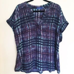 APT. 9 Plaid Career Blouse Top XXL